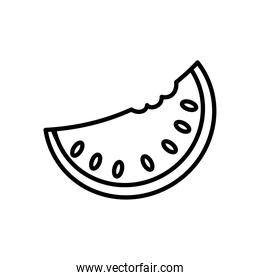 icon of watermelon fruit, line style