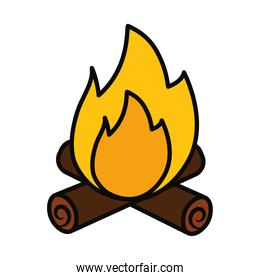 bonfire icon image, line and fill style