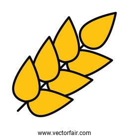 icon of wheat ears, line and fill style