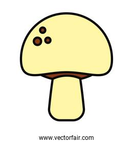mushroom icon image, line and fill style