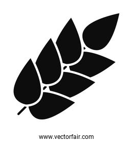 icon of wheat ears, silhouette style