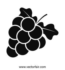 bunch of grapes  silhouette style