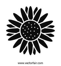 sunflower icon image, silhouette style