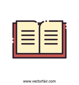 open book line and fill style icon vector design