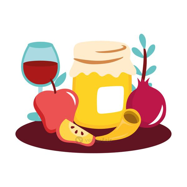 sweet honey pot with fruits and wine cup