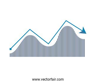 statistics arrow infographic isolated icon