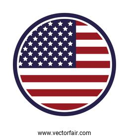 united states of america flag in seal
