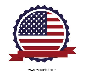 united states of america flag in lace