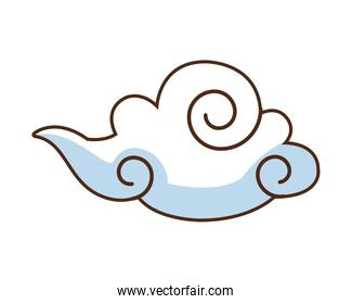 chinese cloud floating isolated icon