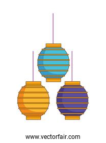 chinese paper lamps hanging decoration