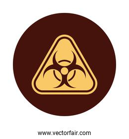 biohazard signal caution isolated icon