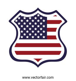 shield with united states of america flag