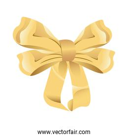 bowtie ribbon decorative isolated icon