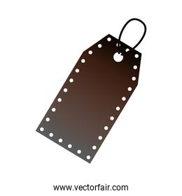 commercial tag hanging isolated icon