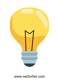 bulb light solution isolated icon