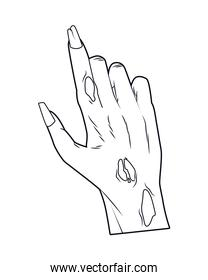death zombie hand halloween icon