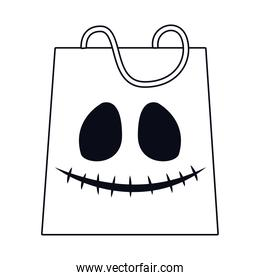 halloween shopping bag with face icon