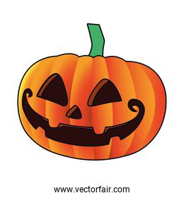 halloween pumpkin face isolated icon