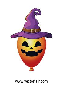 halloween balloon helium with witch hat