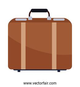 travel suitcase accessory isolated icon