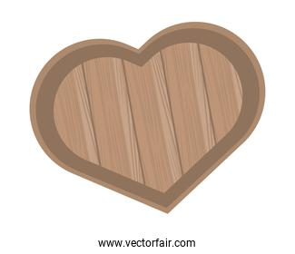 wooden kitchen board with heart shape