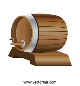 beer barrel drink isolated icon