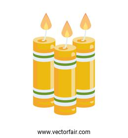 hindu religion candles yellow icons