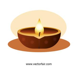 hindu religion candle wooden icon