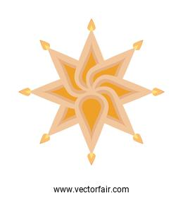 hindu religion candles in star form