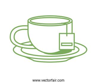 teacup drink in dish icon