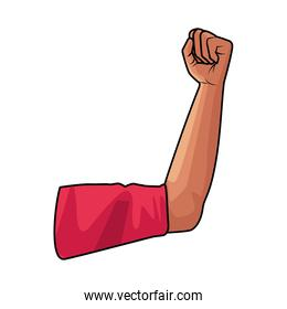 hand fist strong isolated icon