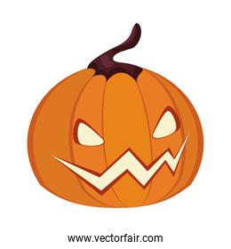halloween pumpkin face lantern icon