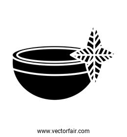 teacup drink with leaves plant