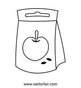 apple seeds bag line style icon