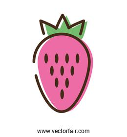 strawberrie fruit line and fill style icon