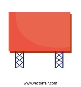 billboard banner publicity isolated icon