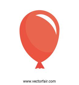 balloon helium red color icon