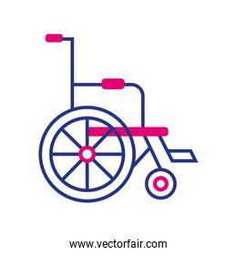 wheelchair disabled person line and fill style icon