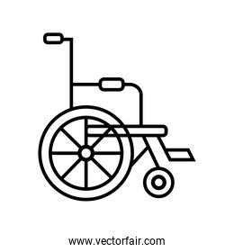 wheelchair disabled person line style icon