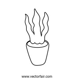 houseplant in ceramic pot isolated icon