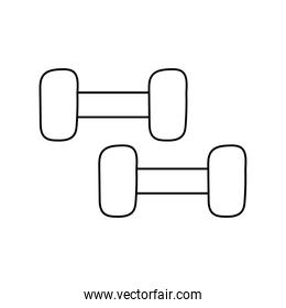 dumbbells gym accessories isolated icon