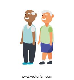 interracial old men friends avatars characters