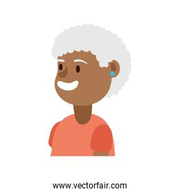 old afro woman person avatar character
