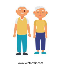 old couple persons avatars characters