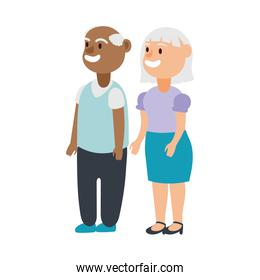 interracial old couple persons avatars characters