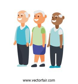 interracial old men group avatars characters