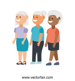 interracial old women group avatars characters