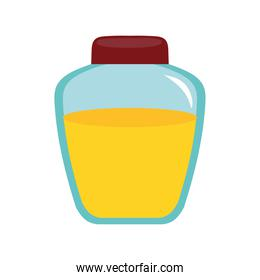 honey in jar isolated icon