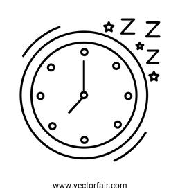 watch clock with Insomnia z letters line  style icon