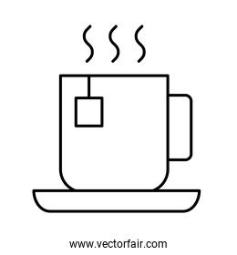 tea cup line  style icon